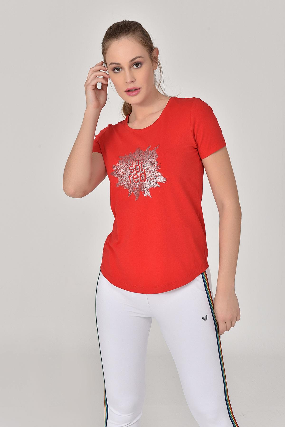 bilcee Kırmızı Kadın T-shirt  GS-8613 2