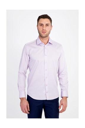 Kiğılı Uzun Kol Non Iron Slim Fit Saten Gömlek