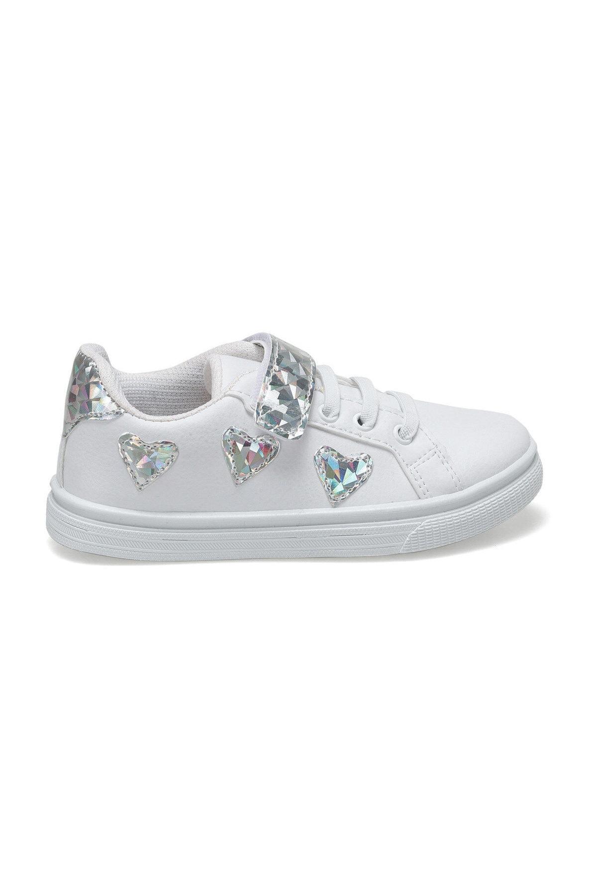 SEVENTEEN TRENDI Beyaz Kız Çocuk Sneaker Ayakkabı 100515651 2