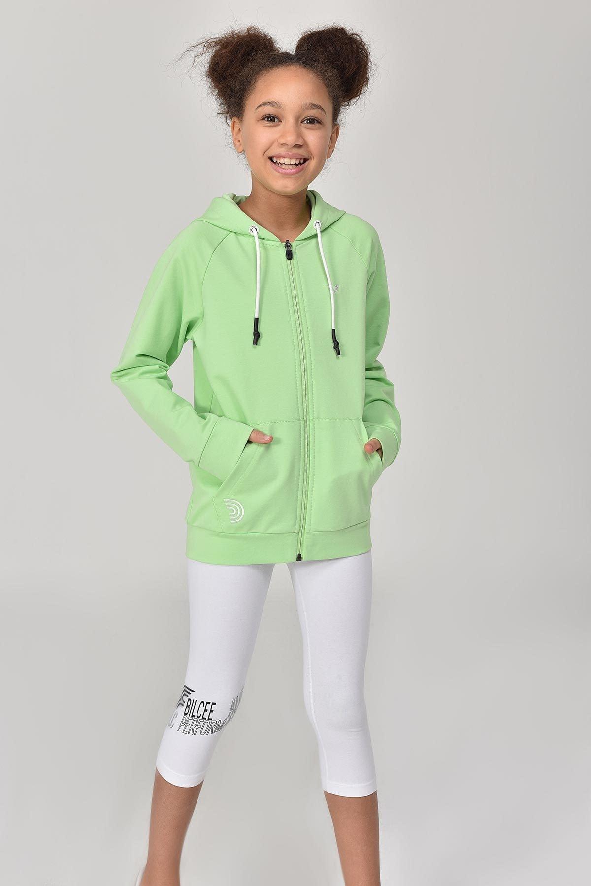 bilcee A.Yeşil Unisex Çocuk Eşofman Üstü GS-8195 1