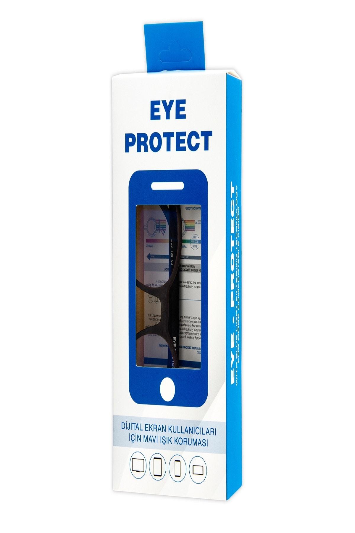 Eye Protect - Ekran Koruyucu Gözlük Kahverengi Çerçeveli 1