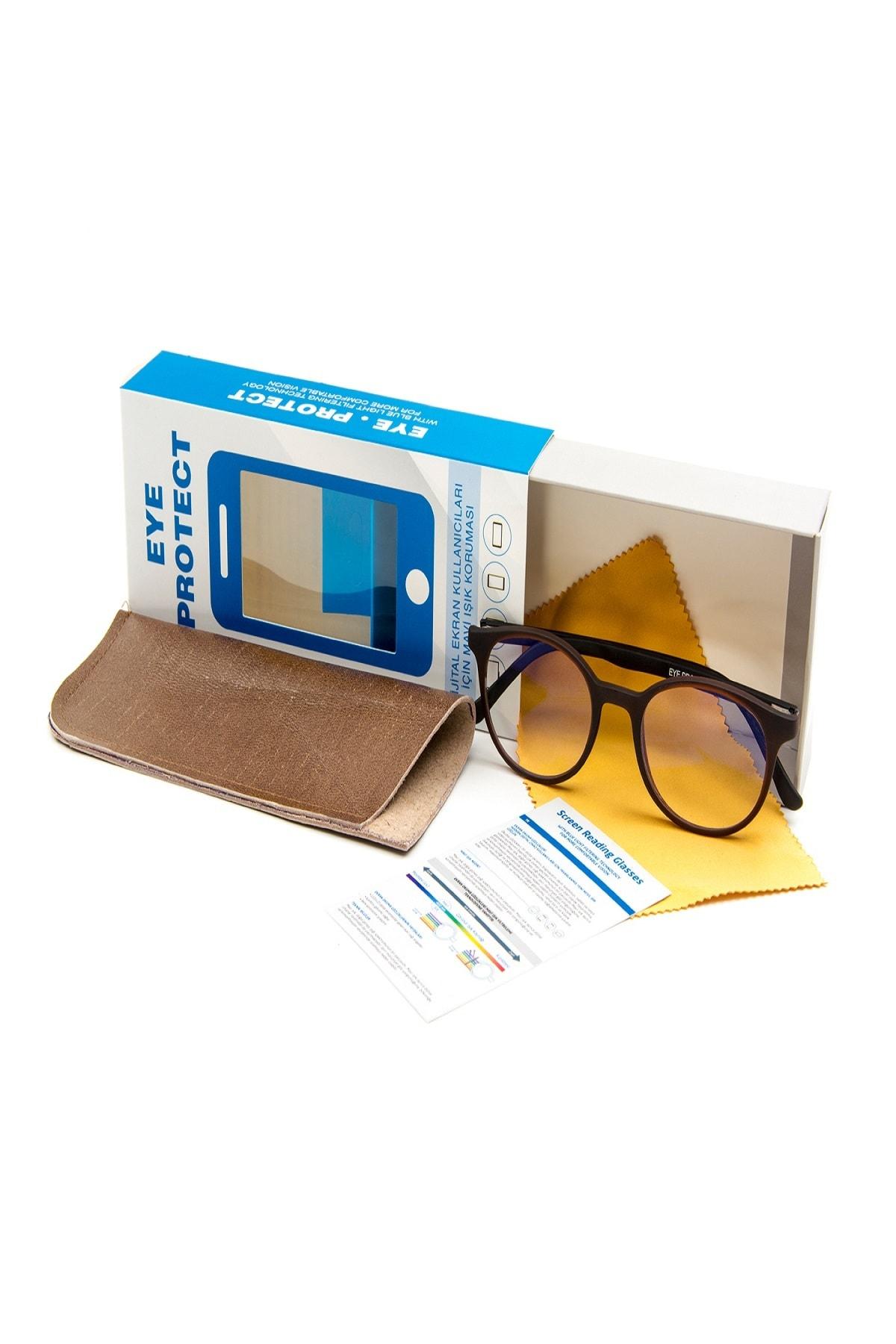 Eye Protect - Ekran Koruyucu Gözlük Kahverengi Çerçeveli 2