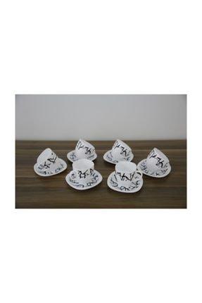 Luminarc Dripping 6'lı Beyaz Çay Fincanı Seti 220 ml