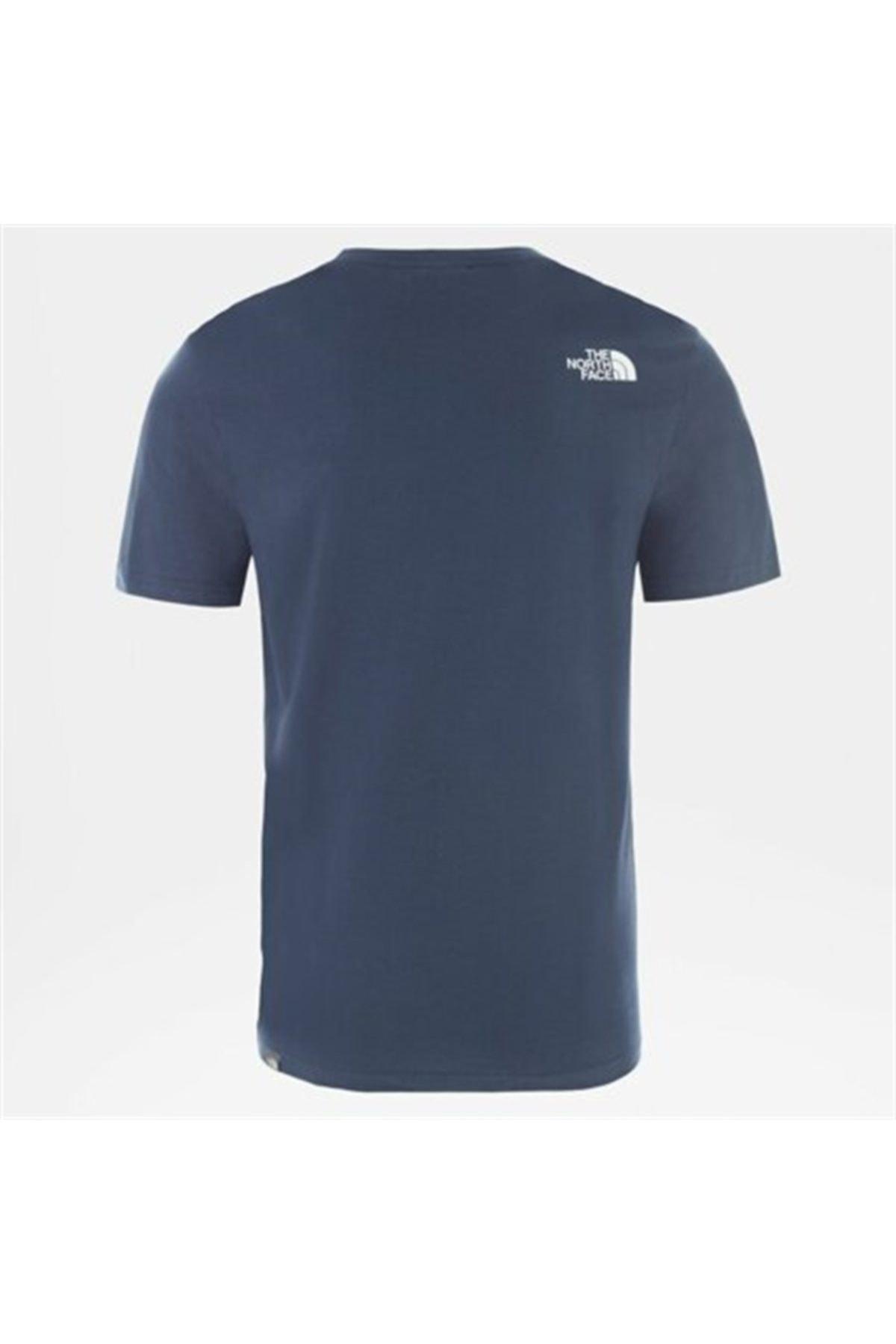 THE NORTH FACE M S/S EASY EU Mavi Erkek T-Shirt 100576713 2