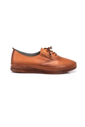Tergan Taba Deri Kadın Ayakkabı 64704a29