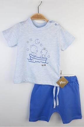 Flexi Erkek Bebek Mavi Kısa Kolu Takım