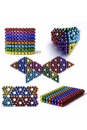CMT 5mm 8 Renkli Neodyum Mıknatıslı Küre Zeka Gelişim Bilyesi
