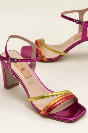 Elle Shoes DUARTEE Fuşya Kombin Kadın Sandalet