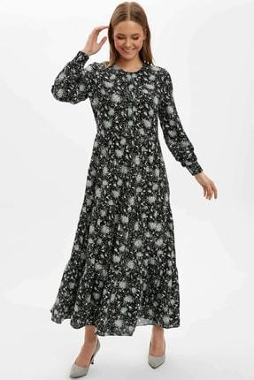 DeFacto Kol Detaylı Dokuma Elbise