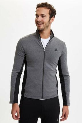 DeFacto Erkek Fermuarlı Extra Slim Fit  Spor Sweatshirt