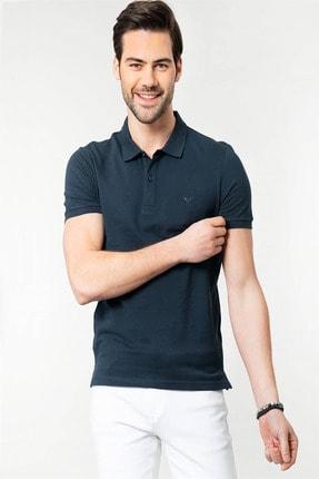 Tudors Polo Yaka Düz Mavi Erkek T-Shirt
