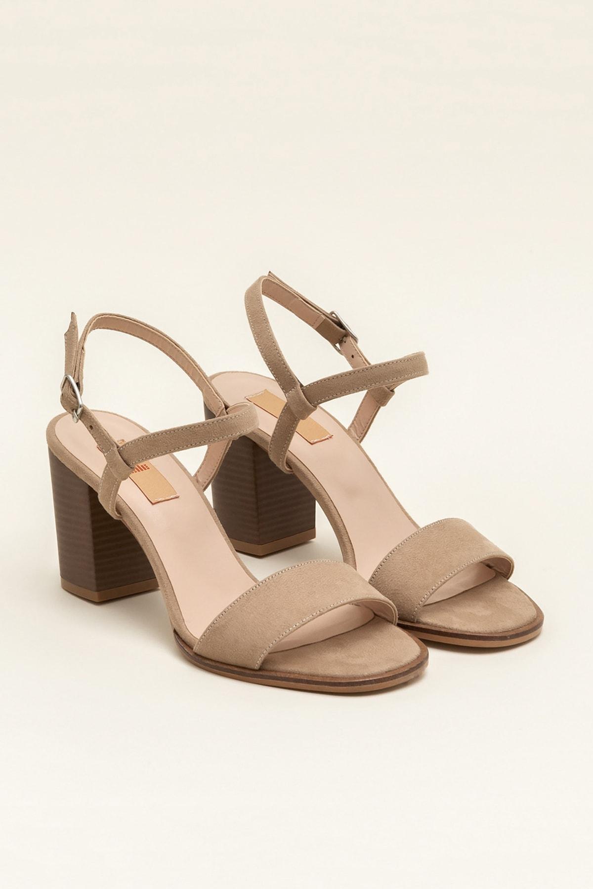 Elle Shoes GUSTINEE Bej Kadın Sandalet 2