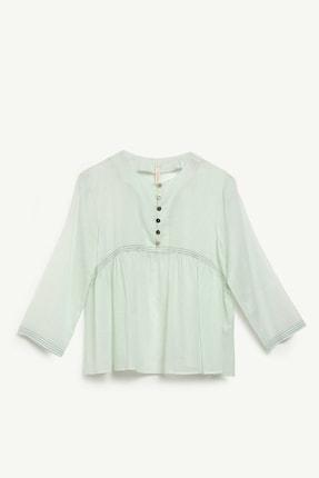 Yargıcı Kadın Mınt Roba Detaylı Gömlek 0YKGM6135X