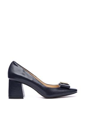 KEMAL TANCA Lacivert Kadın Vegan Klasik Topuklu Ayakkabı 22 619 BN AYK