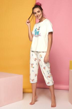 Sevim Kadın A.Sari Kısa Kol Pijama Takımı