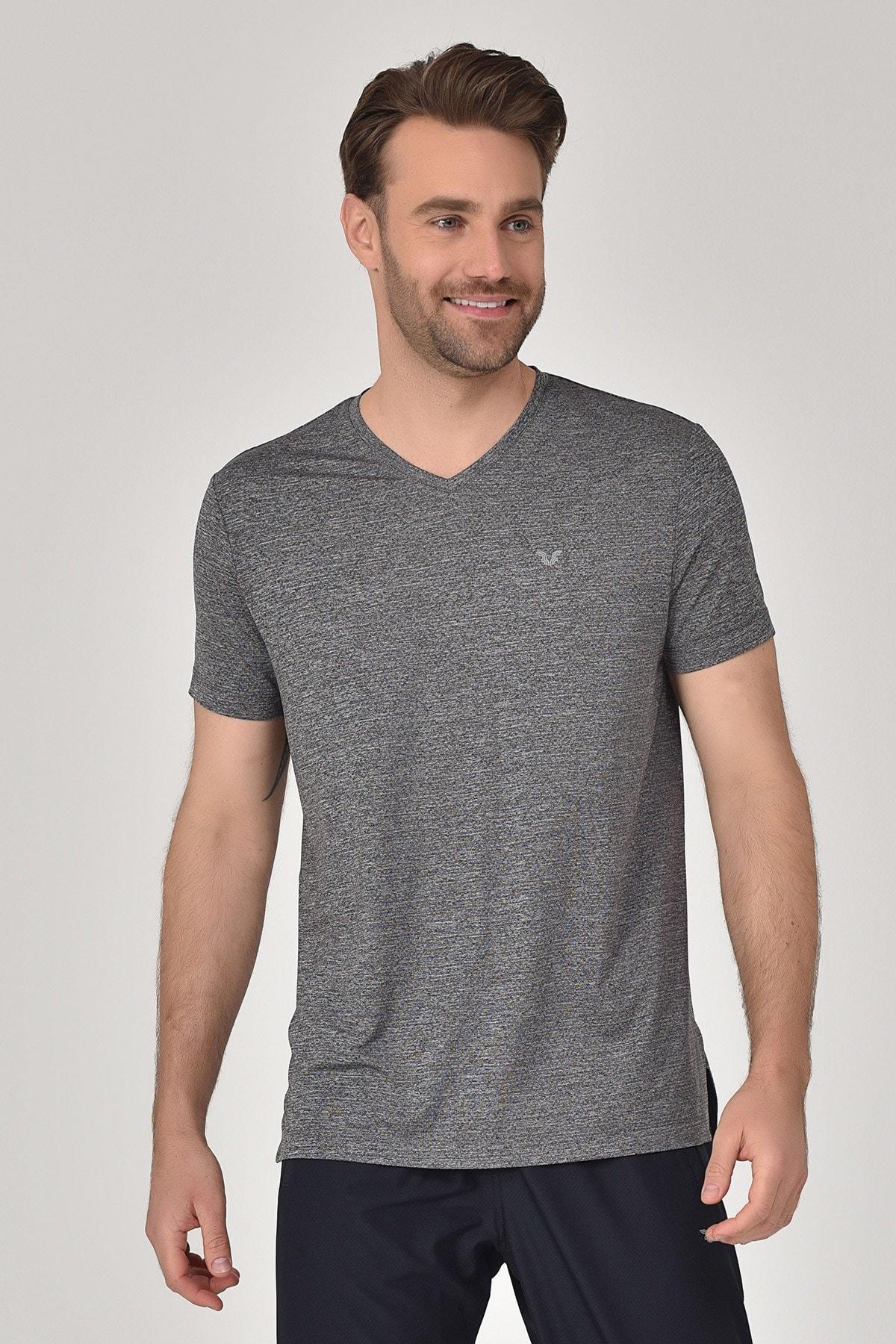 bilcee Antrasit Erkek T-Shirt GS-8820 1