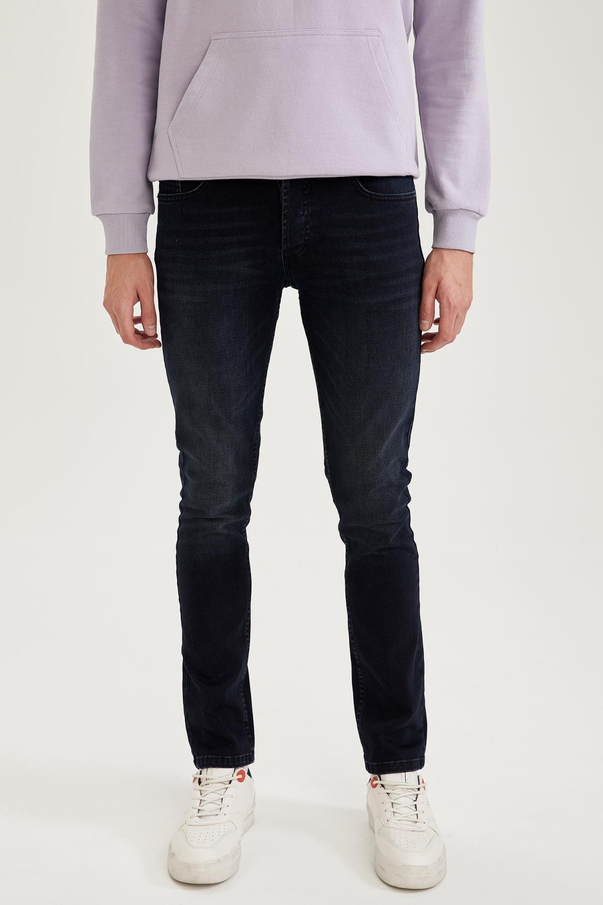DeFacto Pedro Slim Fit Normal Bel Dar Paça Jean Pantolon