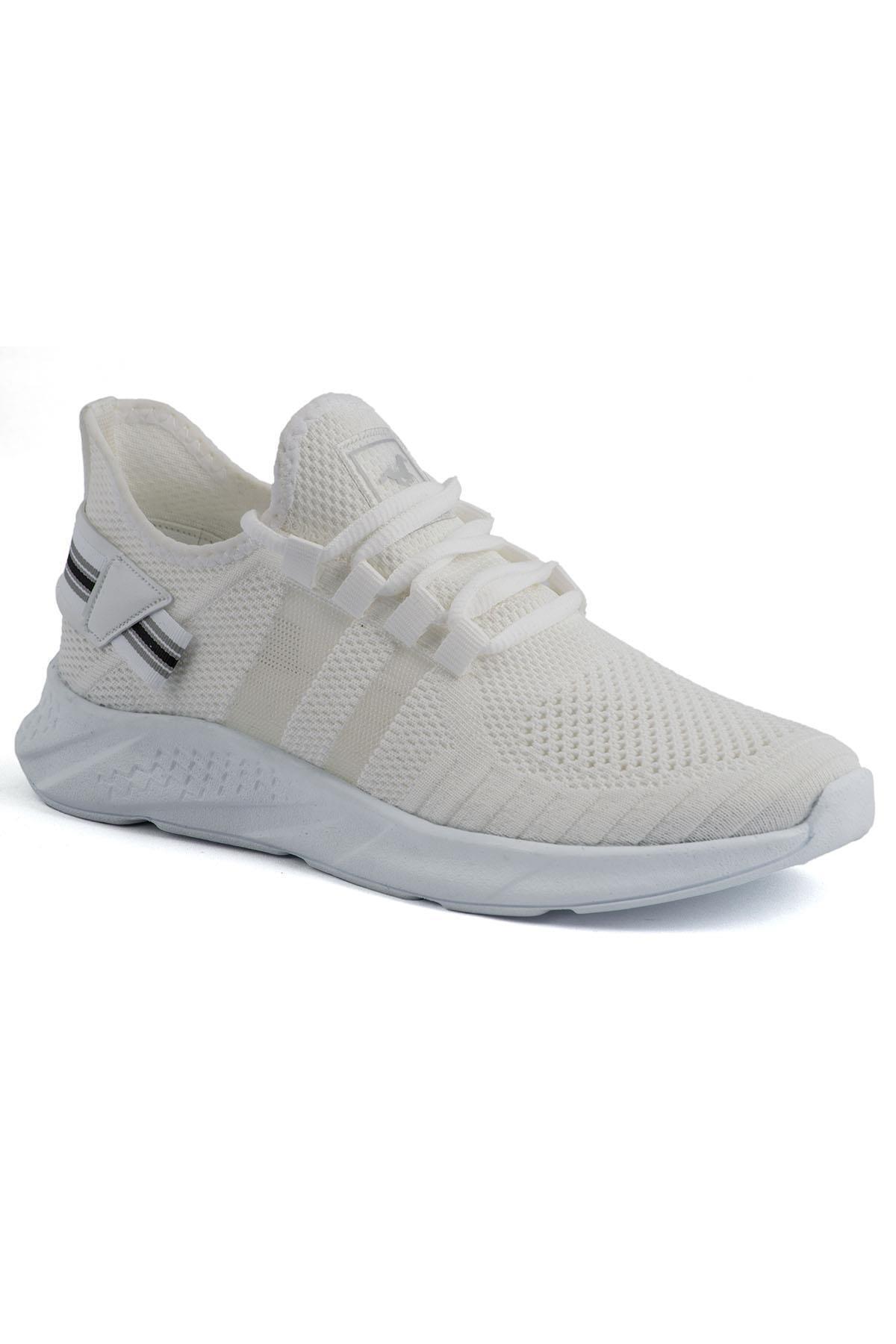 L.A Polo 136 Beyaz Beyaz Delikli Yazlık Erkek Spor Ayakkabı 1