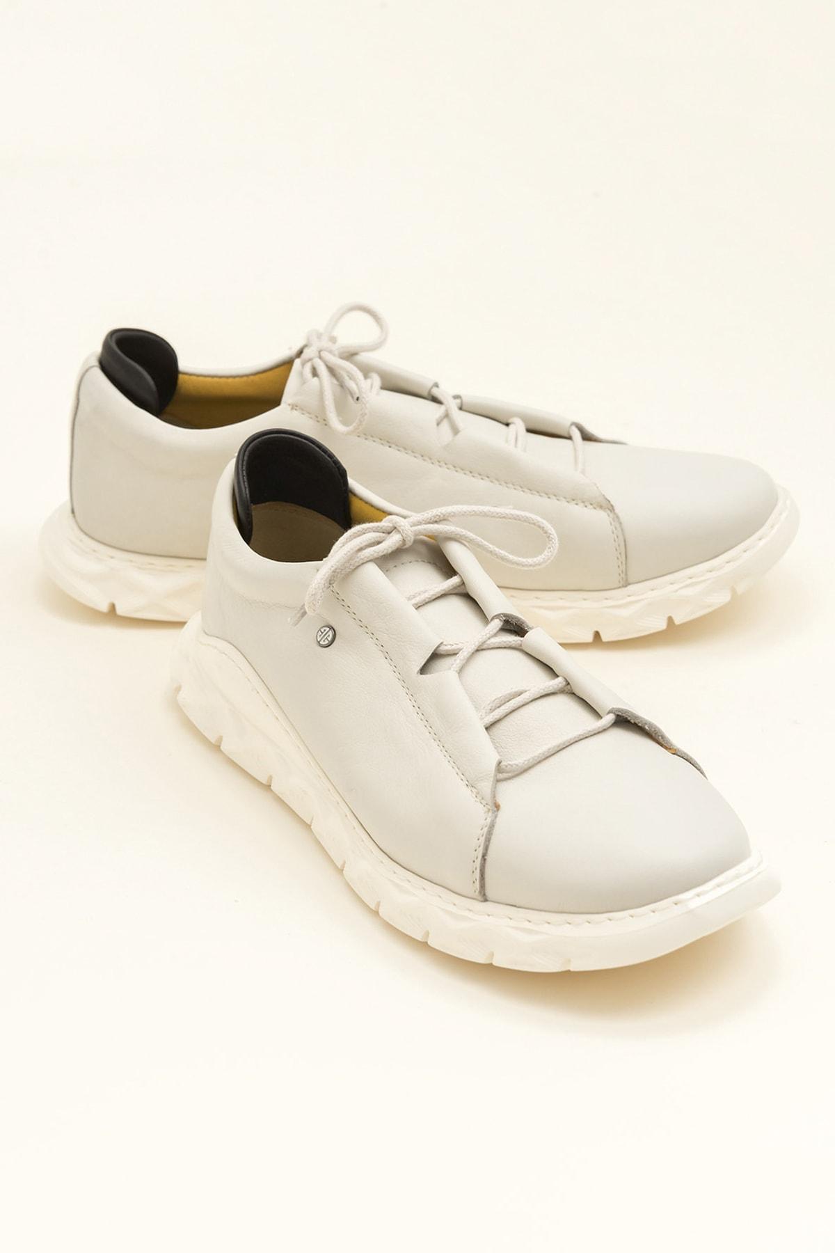 Elle Shoes MANOJI Hakiki Deri Bej Erkek Ayakkabı 1