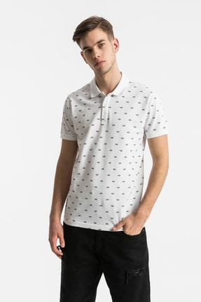 Ltb Erkek  Beyaz Polo Yaka T-Shirt 012208426860890000