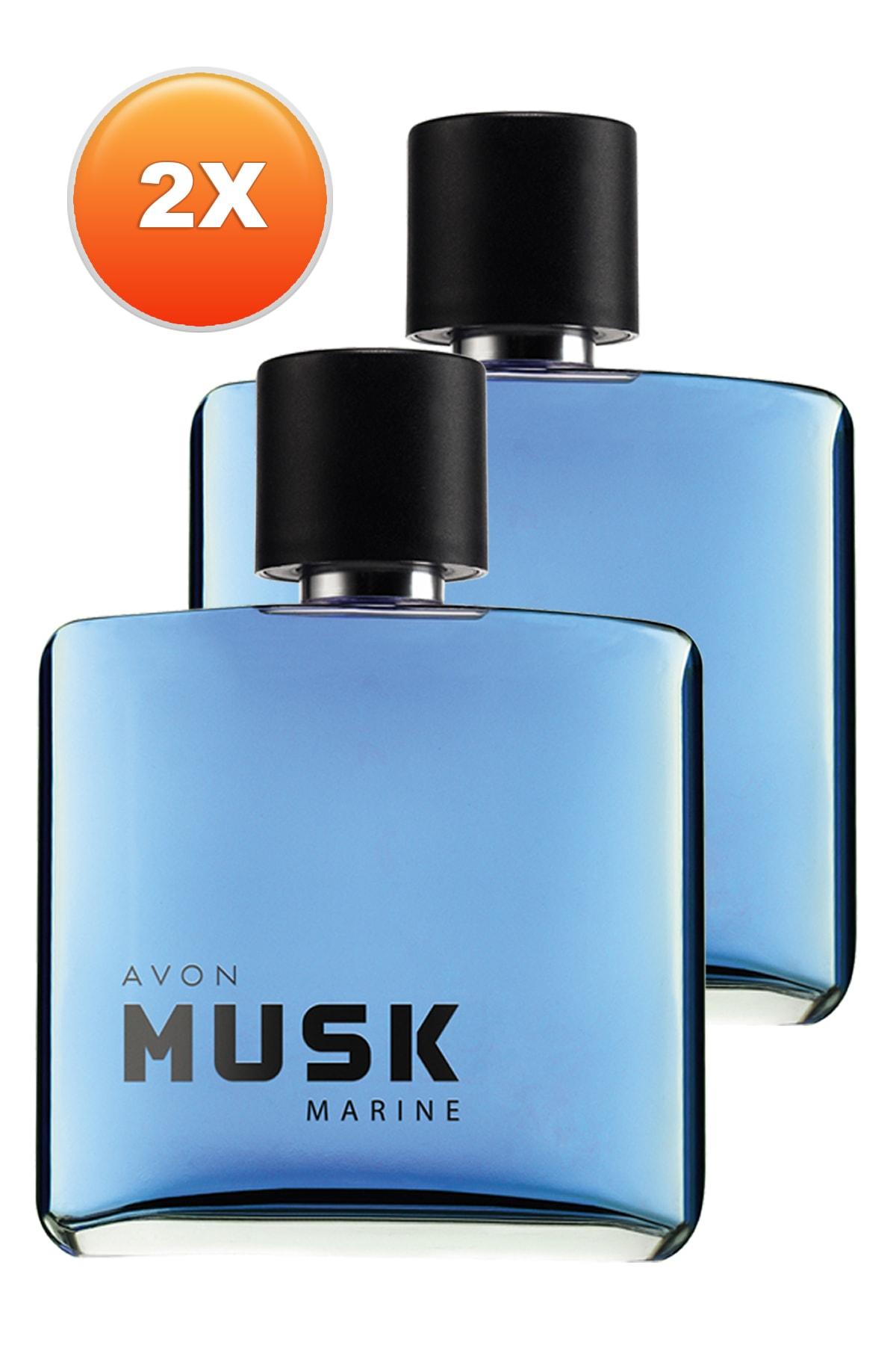 AVON Musk Marine Erkek Parfüm Edt 75 ml 2'li Set 5050000104852 1