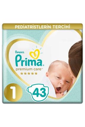Prima Unisex Bebek Bezi Premium Care 1 Beden 43 Adet Yenidogan Ekonomi Paketi