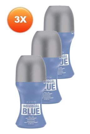 AVON Individual Blue Erkek Roll On - 50 ml x 3'lü Set 5050000105460