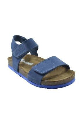 Pandora Patik Deri Sandalet Mavi
