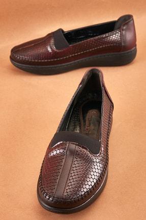 Bambi Bordo Kadın Casual Ayakkabı K0501000209