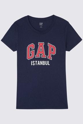 GAP Kadın Logo Kısa Kollu Istanbul T-Shirt 370193