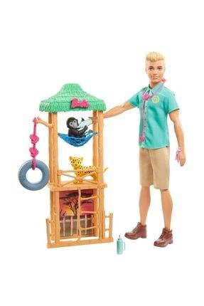 Barbie Ken ve Meslekleri Oyun Setleri GJM32 - Vahşi Doğa Veterineri