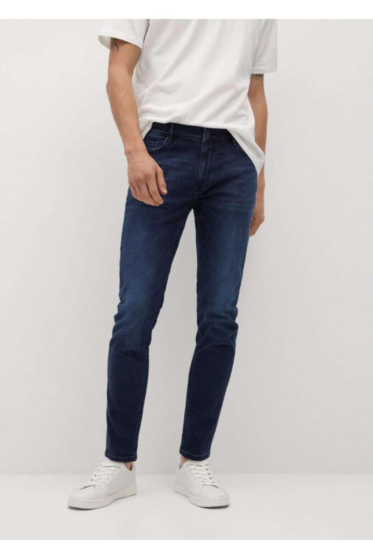 MANGO Man Skinny Koyu Yıkama Jude Jean Pantolon 1