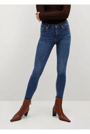 MANGO Woman Kısa Paçalı Skinny Isa Jean Pantolon