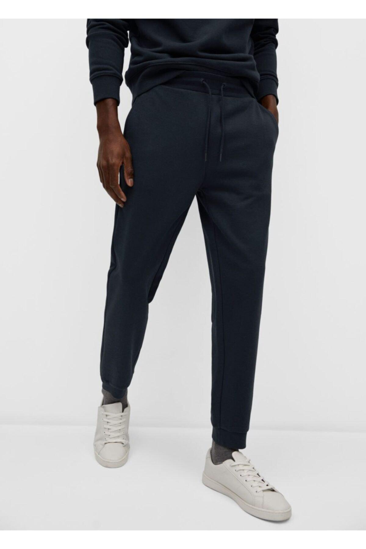 MANGO Man Pamuklu Penye Jogger Pantolon 1