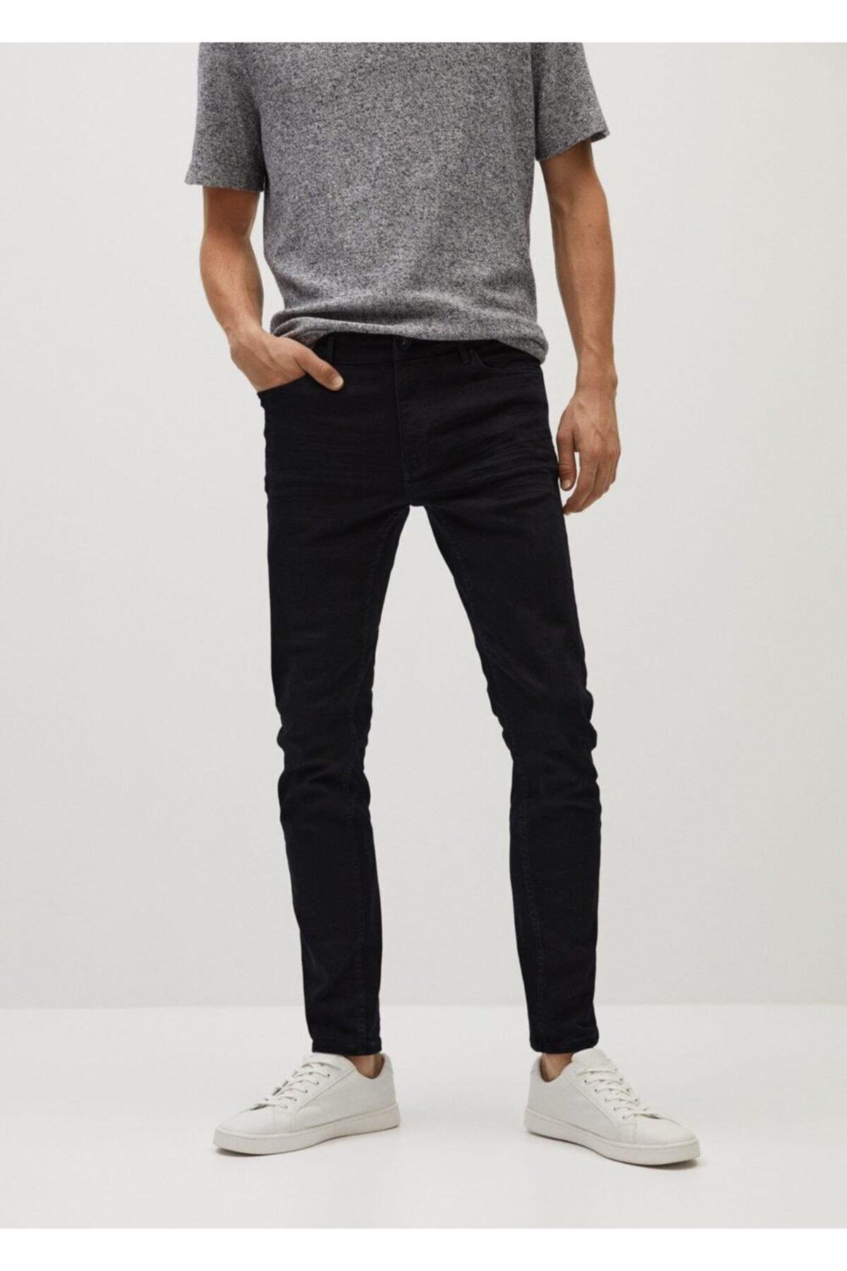 MANGO Man Erkek Siyah Skinny Jude Jeans 1