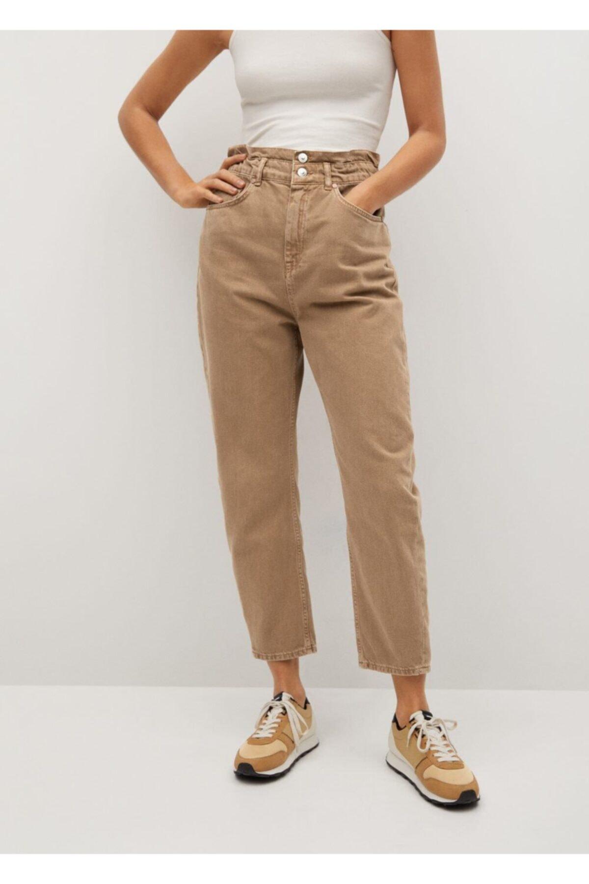 MANGO Woman Düz Kesim Baggy Jean Pantolon 1