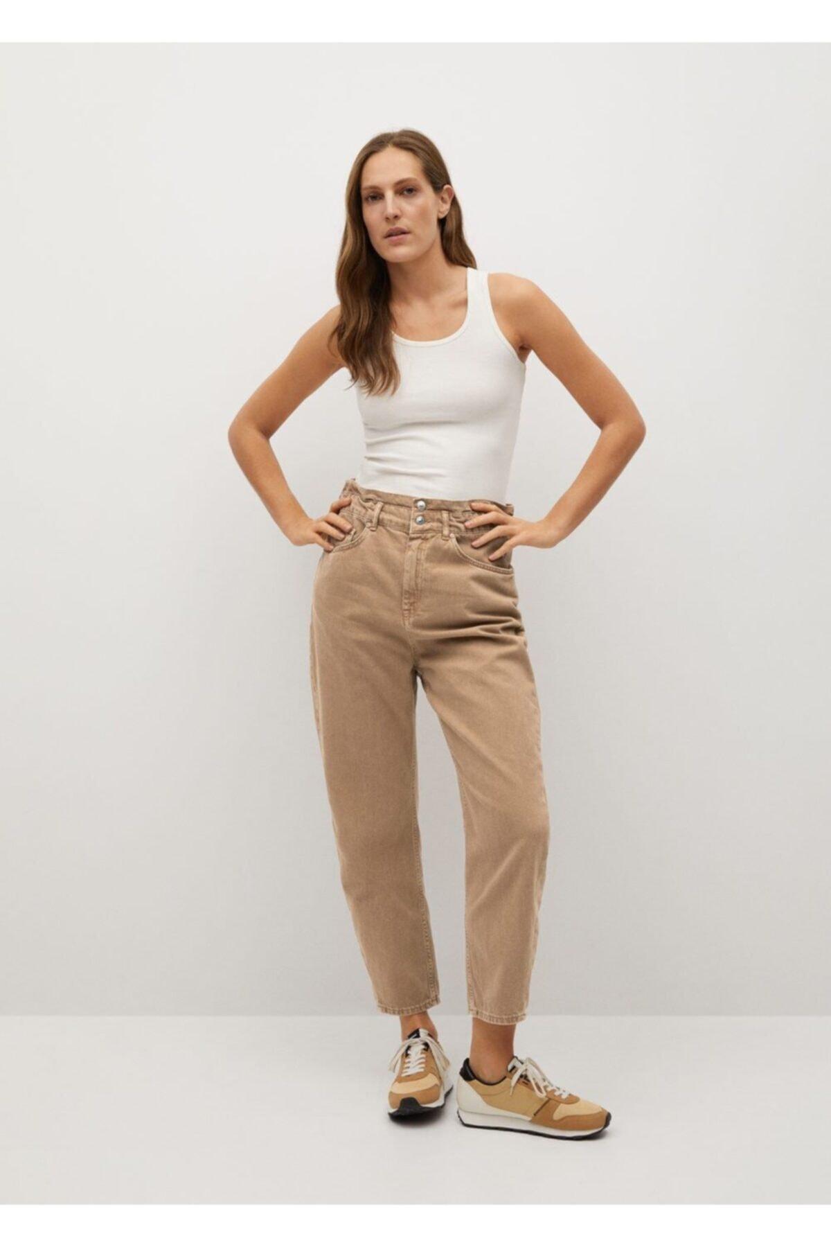 MANGO Woman Düz Kesim Baggy Jean Pantolon 2