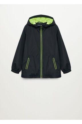 MANGO Kids Kapüşonlu Fermuarlı Ceket
