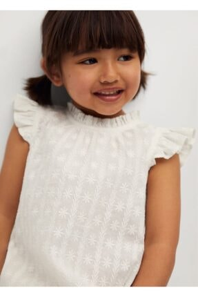 MANGO Baby Kız Bebek Ekru Bluz