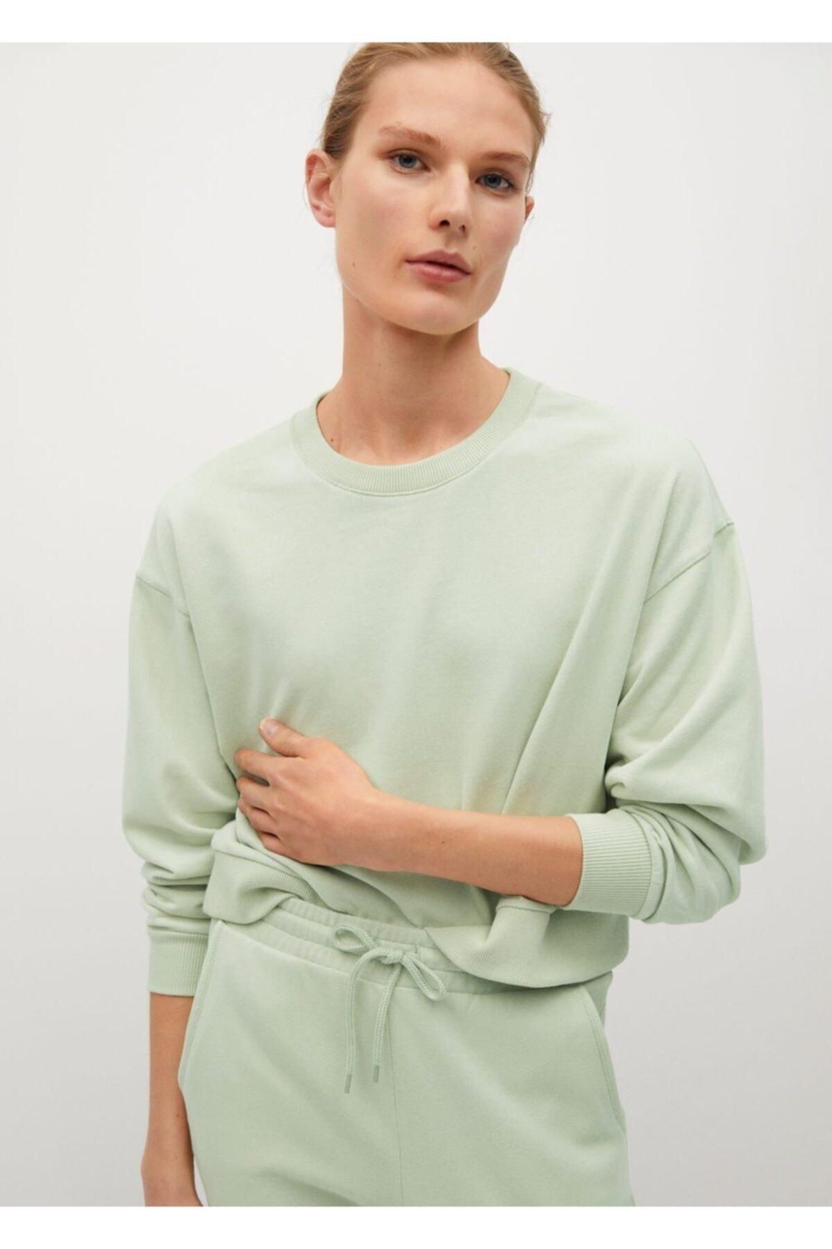 MANGO Woman Pamuklu Sweatshirt 1