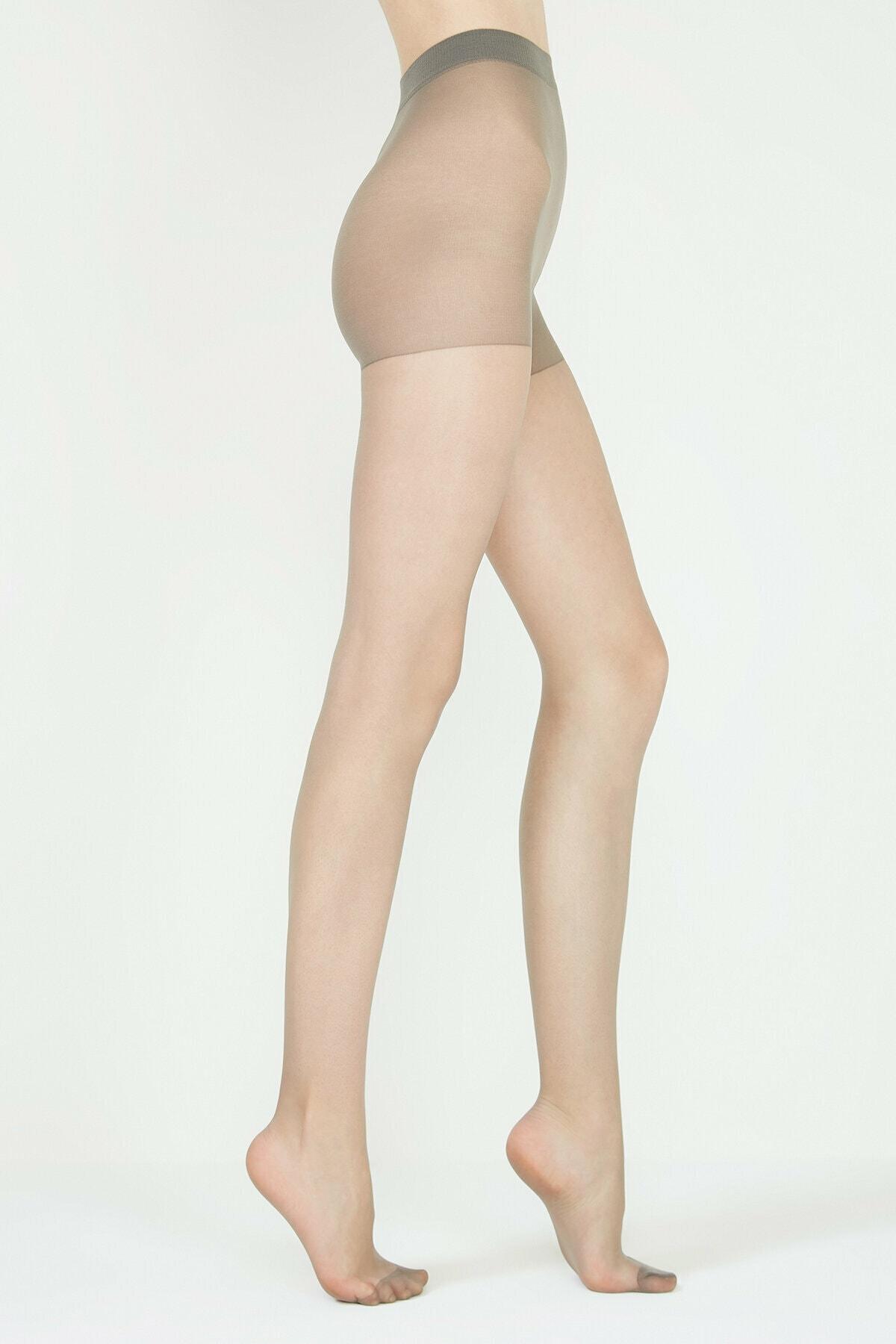 Penti Kadın Gümüş Gri Fit 15 Külotlu Çorap