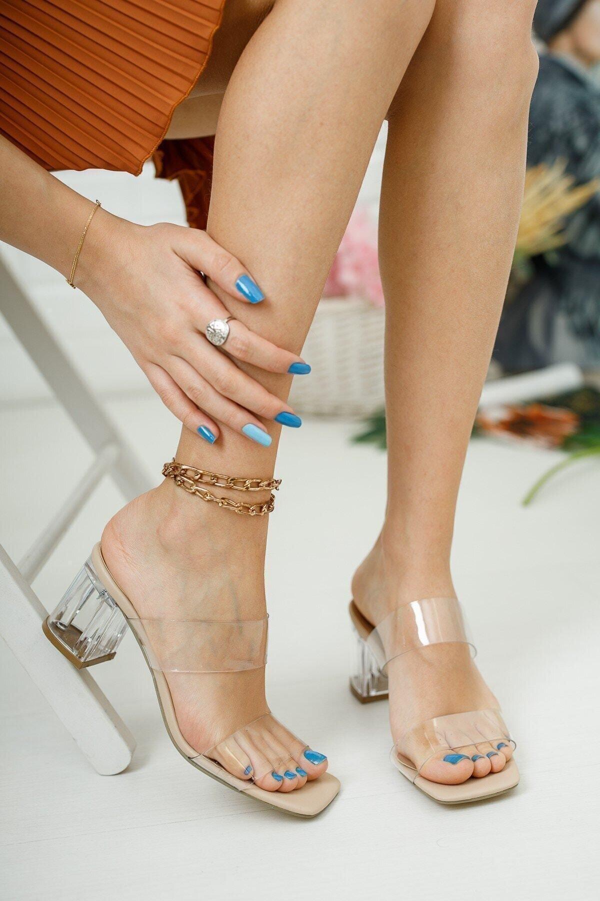 meyra'nın ayakkabıları Şeffaf Bant Ve Topuk Detay Topuklu Ayakkabı 2