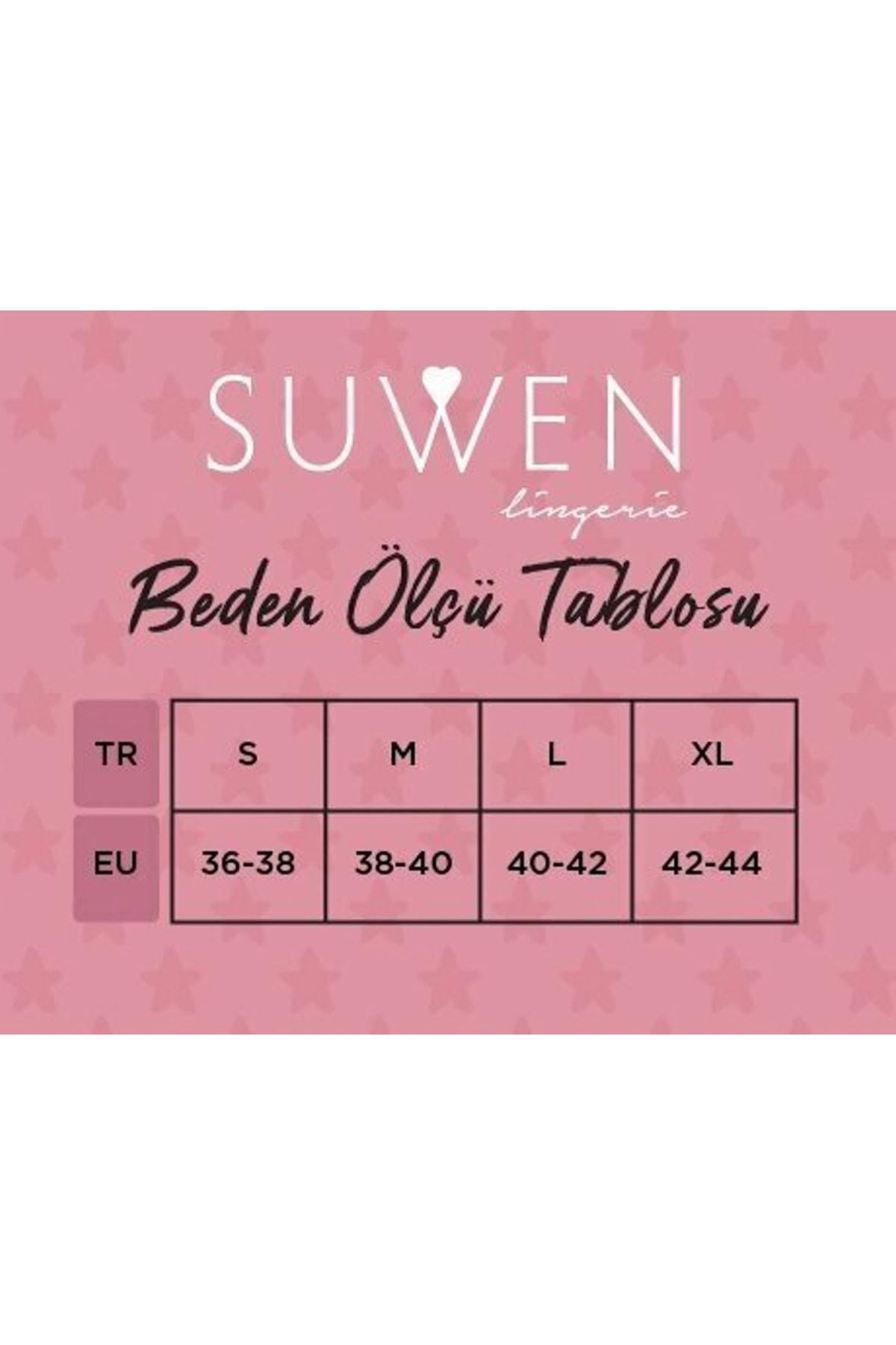 SUWEN Kadın Blck/Ecr/Purple 3 Lü Renkli Külot 2
