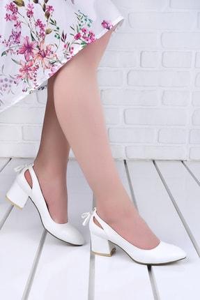 Ayakland 544-1150 Babet 5 Cm Topuk Kadın Cilt Sandalet Ayakkabı