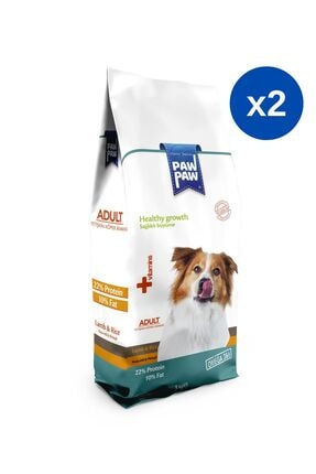 Paw Paw Kuzulu & Pirinçli Yetişkin Köpek Maması - 3 kg x 2 Adet
