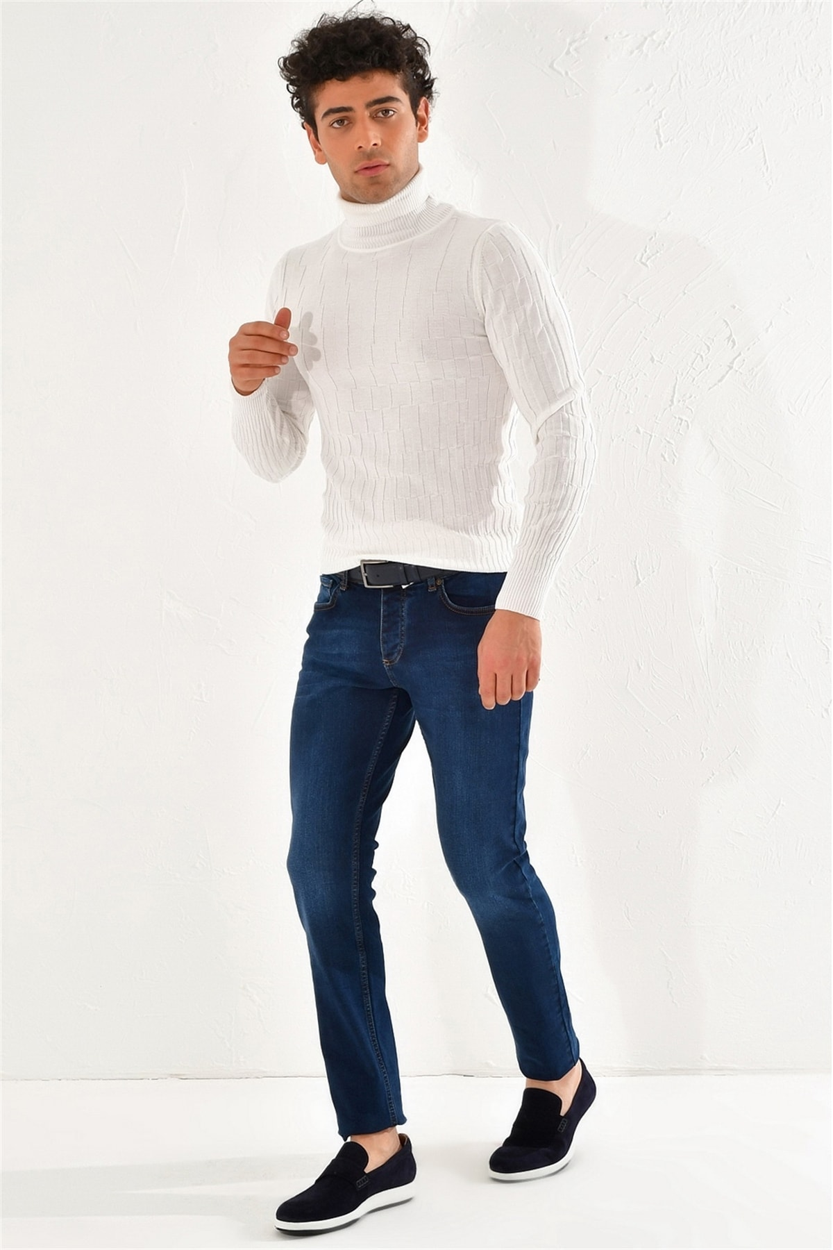 Efor 050 Slim Fit Mavi Jean Pantolon 2
