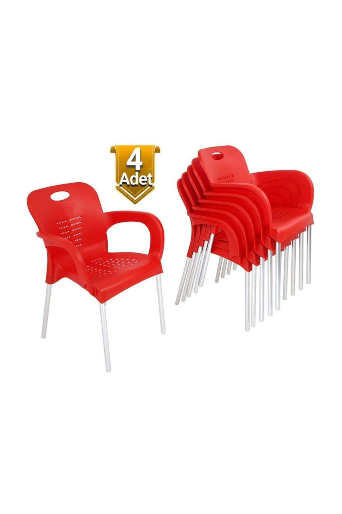 Özel Yapım 4 Adet Çok Sağlam Plastik Sandalye - Uzun Ömürlü - Günün Fırsatı 1