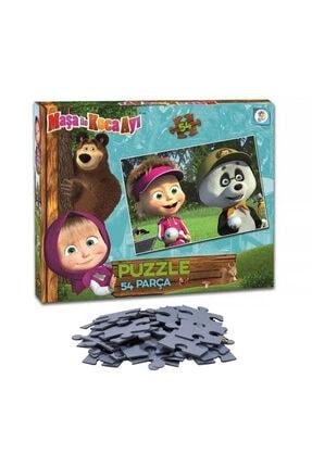 LAÇO Maşa Ile Koca Ayı 54 Parça Çocuk Puzzle Kutulu Yapboz Seti
