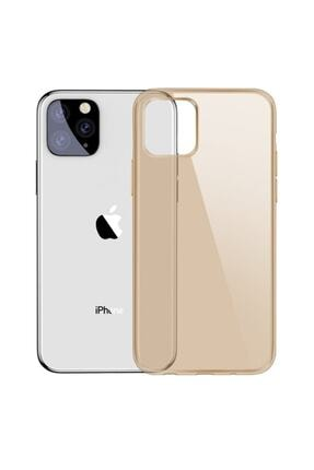 Baseus Simplicity Series Iphone 11pro 5.8inch?2019? Şeffaf Gel Silikon Kılıf Gold