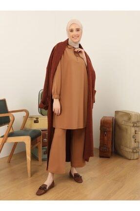 Refka Kadın Camel Tunik&Pantolon İkili Eşofman Takımı 1734569